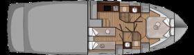 Sessa marine C42 lower deck