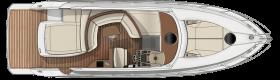 Sessa marine C44 main deck with garage