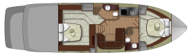 Sessa Marine C48 - lower deck