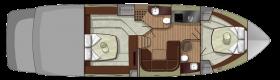 Sessa Marine C48 - lower deck